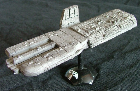 Jpeg picture of another spaceship build by John Dingle.