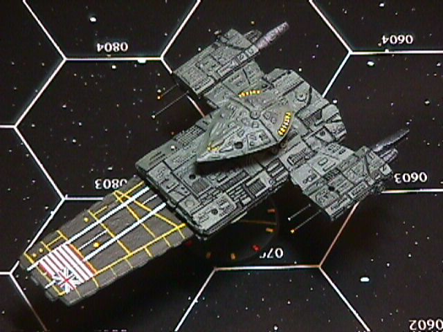 Jpeg picture of Kristian Miller's modified Arc Royal miniature.